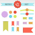 Clean color retro set Royalty Free Stock Photo