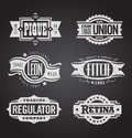 Clean and distressed retro  grunge banners, seals and Royalty Free Stock Photo