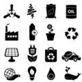 Clean energy and environment icons Royalty Free Stock Photo