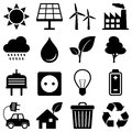 Clean Energy Environment Icons Royalty Free Stock Photo