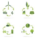 Clean energy icon set concept Stock Photography