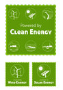 Clean Energy Labels Stock Photography