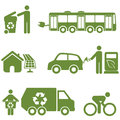 Clean energy recycling and environment symbols Stock Images