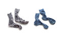 Clean laundered men s socks on a white background Royalty Free Stock Photos