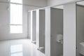 Clean men public toilet room empty, interior design. Royalty Free Stock Photo