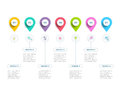 Clean minimalistic business 5 step process chart infographics wi