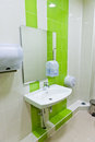 Clean new public toilet room Royalty Free Stock Photo