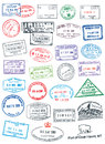 Clean Passport Stamps Royalty Free Stock Images