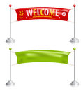 Clean textile banners great for print or web Stock Photography