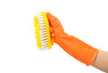 Clean tool,Plastic toilet brush Stock Image