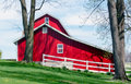 Clean trim barn in Michigan USA Royalty Free Stock Photo