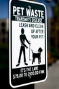 A clean up after pet sign Royalty Free Stock Photo