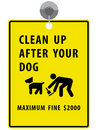 Clean up after your dog sign Stock Image