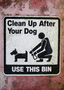 Clean up after your dog sign Stock Photography