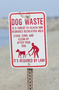 Clean up after your dog sign in a park Stock Images
