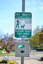 Clean Up After Your Pet Sign Stock Photos