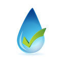 Clean water approval illustration design over white Royalty Free Stock Photos