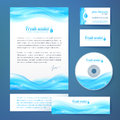 Clean water concept business style template vector Stock Images