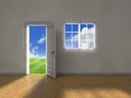 Clean weather door Royalty Free Stock Images