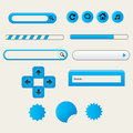 Clean web design designers toolkit elements collection white blue vector editable Stock Image