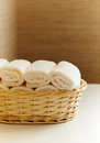 Clean white towels Royalty Free Stock Photos