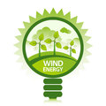 Clean Wind Energy Stock Image