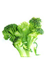 Cleaned broccoli green with sprigs white background Stock Image