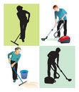 Cleaners Royalty Free Stock Photography