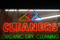 Cleaners Neon Sign Royalty Free Stock Photo