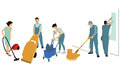 Cleaners at work Royalty Free Stock Photo