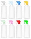 Cleaning bottle spray set on a white background Stock Photography