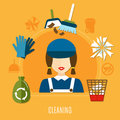 Cleaning Company Circle Composition