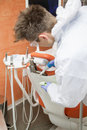Cleaning dental office Royalty Free Stock Photo