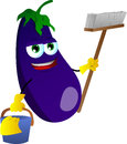 Cleaning eggplant