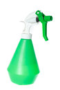 Cleaning equipment green garden plastic foggy sprayer bottle object isolated on white background without shadows Stock Photo