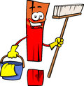 Cleaning exclamation mark