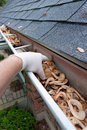 Cleaning Gutters Royalty Free Stock Photo