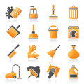 Cleaning and hygiene icons vector icon set Royalty Free Stock Photos