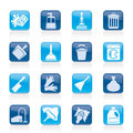 Cleaning and hygiene icons vector icon set Royalty Free Stock Image