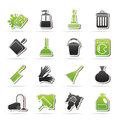Cleaning and hygiene icons vector icon set Stock Image