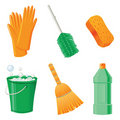 Cleaning icons Stock Photo