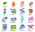 Cleaning icons set Royalty Free Stock Image