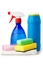 Cleaning kit  on white Stock Images