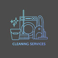 Cleaning logo elements.