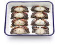 Cleaning and preparing soft shell crab Royalty Free Stock Photo