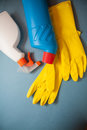 Cleaning products for home Royalty Free Stock Photo