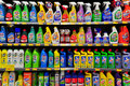 Cleaning products at hong kong supermarket Stock Photos