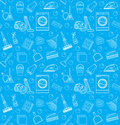 Cleaning seamless pattern.  endless background, texture, wallpaper. Vector illustration Royalty Free Stock Photo