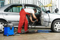 Cleaning service of automobile vacuum clean Royalty Free Stock Photo