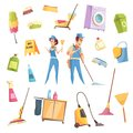Cleaning Service Icons Set Royalty Free Stock Photo